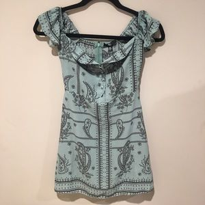 Missguided Tops - Misguided Tunic/Dress Teal & Black Size 0 EUC